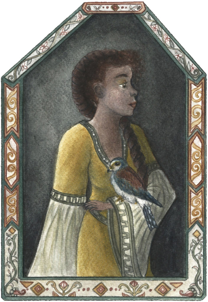 Illustration portrait medieval fantasy océane azeau