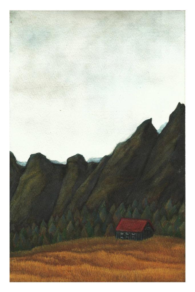 Illustration montagne islande océane azeau