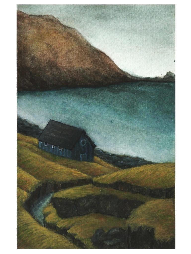 Illustration montagne Norvège océane azeau