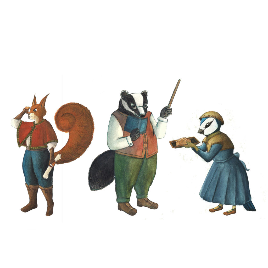 Illustration personnages animaux jeunesse