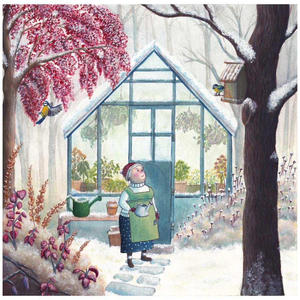 Illustration océane azeau jardin hiver