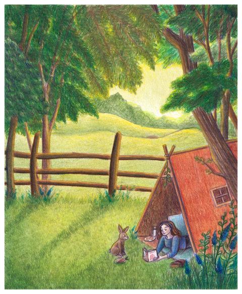 Illustration azeau campagne