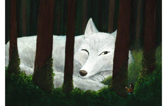 illustration oceane azeau loup conte